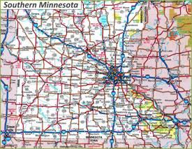 Map of Southern Minnesota