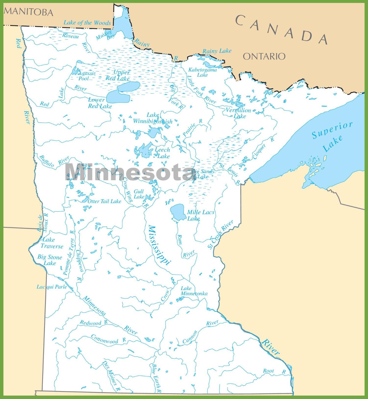 Mn Lake Maps Minnesota State Maps | USA | Maps of Minnesota (MN) Mn Lake Maps