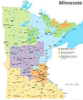 Minnesota Tourist Map
