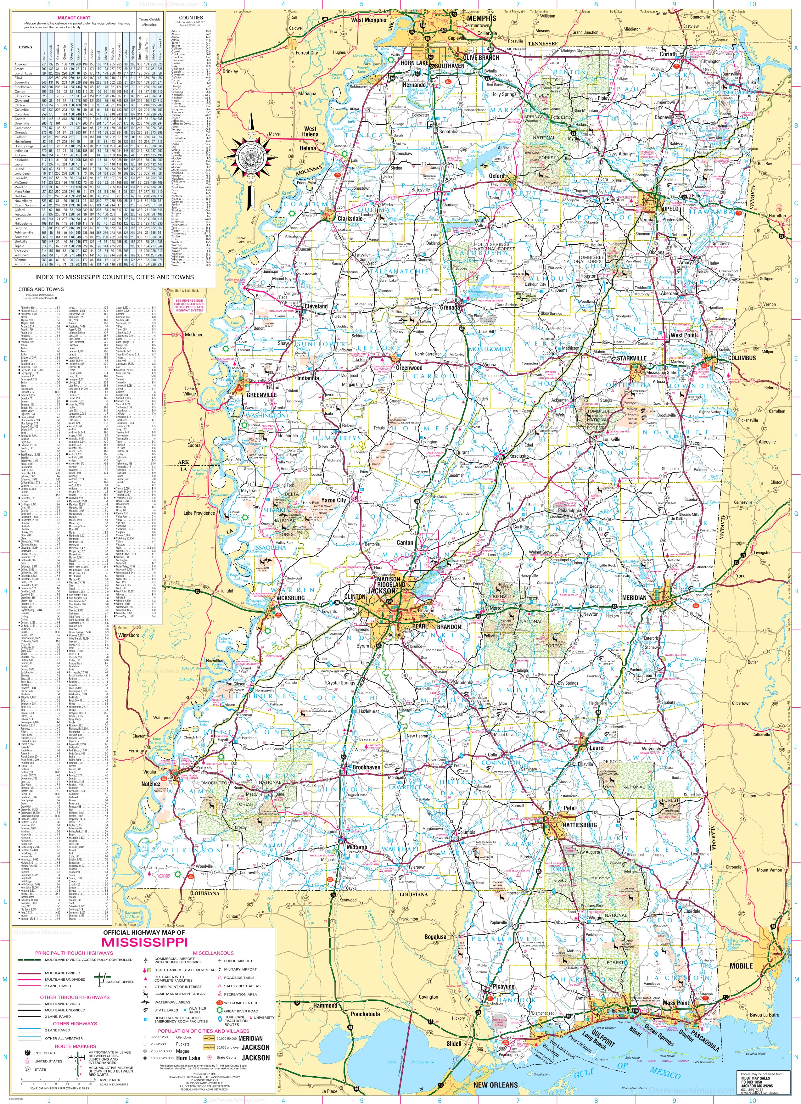 Picture of: Detailed Tourist Map Of Mississippi