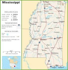 Mississippi highway map