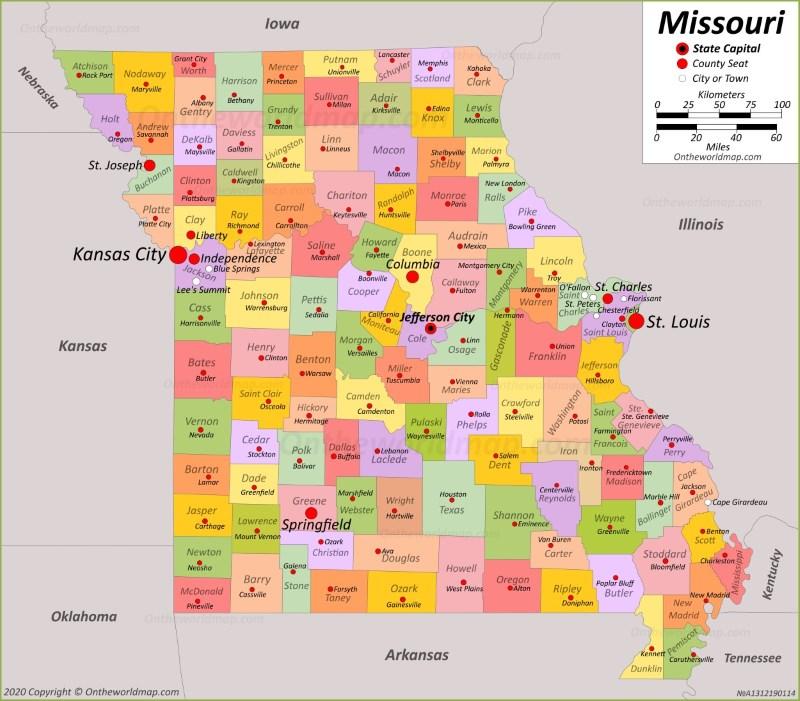 Missouri State Map Usa Maps Of Missouri Mo