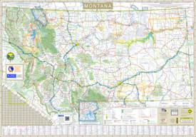 Large detailed tourist map of Montana with cities and towns