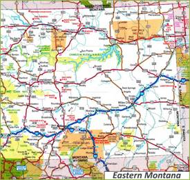 Map of Eastern Montana