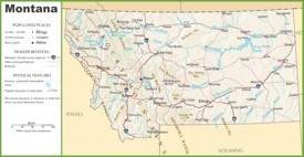 Montana highway map