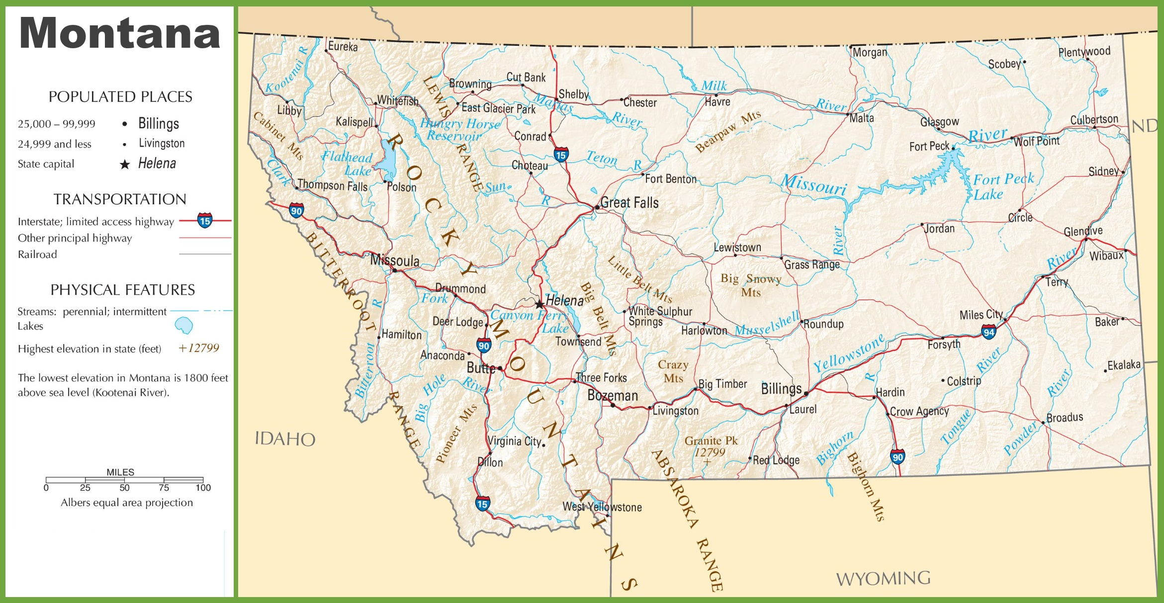 Lakes Montana United States Map Big Sky Montana On State Map - Montana state map