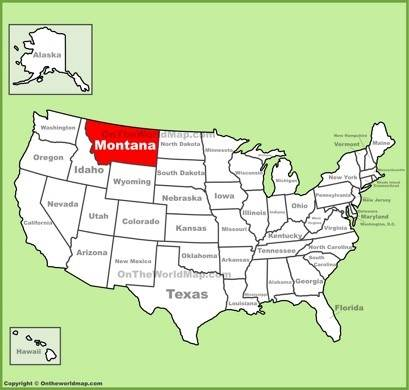 Montana Location Map