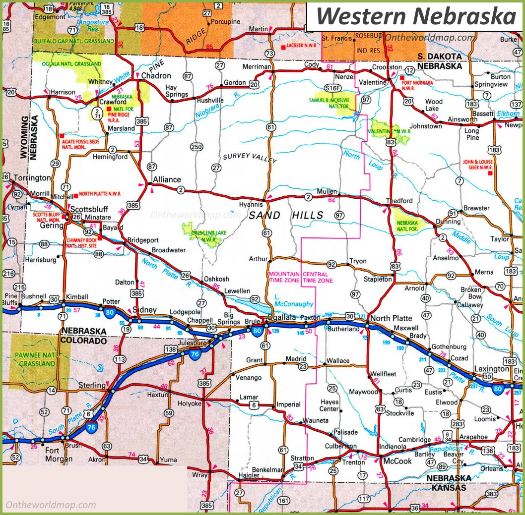 map of western nebraska Map Of Western Nebraska map of western nebraska
