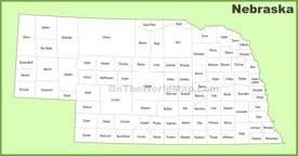 Nebraska county map