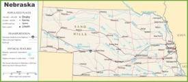 Nebraska highway map