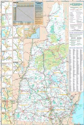 Large Detailed Tourist Map of New Hampshire With Cities And Towns