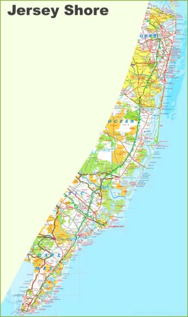 Jersey Shore Map