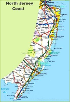 New Jersey coast map