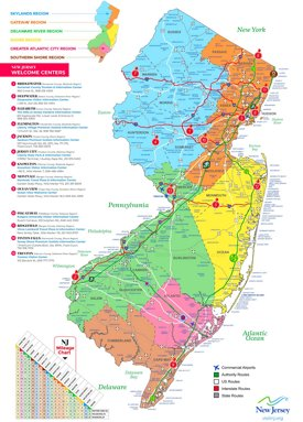 New Jersey On Map Of Usa.New Jersey State Maps Usa Maps Of New Jersey Nj