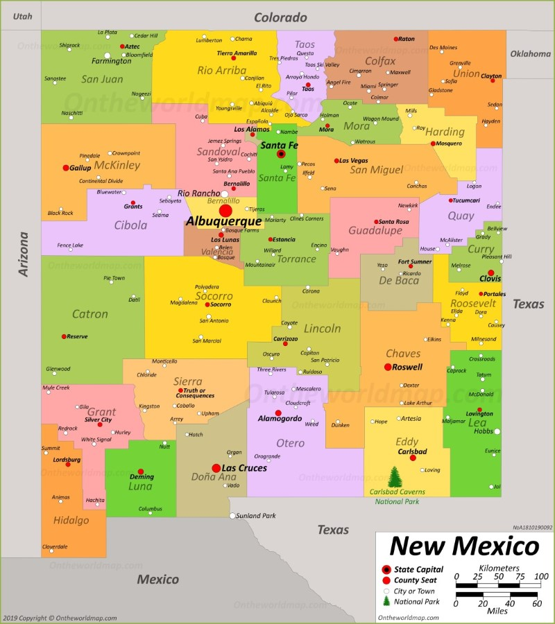 New Mexico State Maps | USA | Maps of New Mexico (NM)