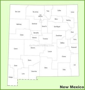 New Mexico county map