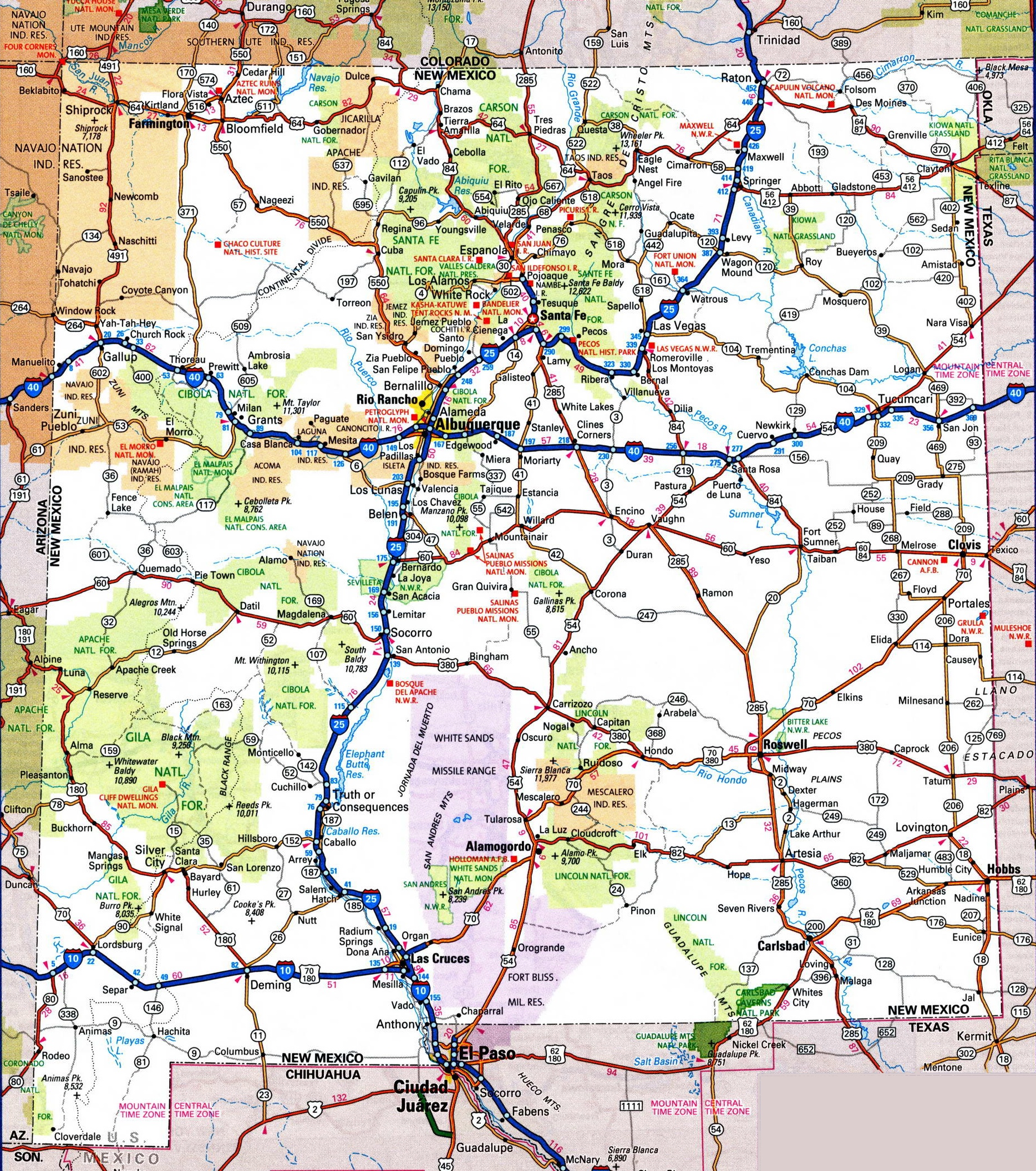 Maps Update 500592 New Mexico Travel Map Maps Update