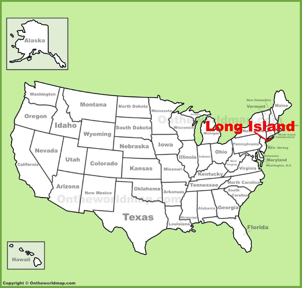 Long Island On Us Map Long Island Map   New York, USA   Map of Long Island