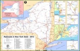 State Map Of New York.New York State Maps Usa Maps Of New York Ny