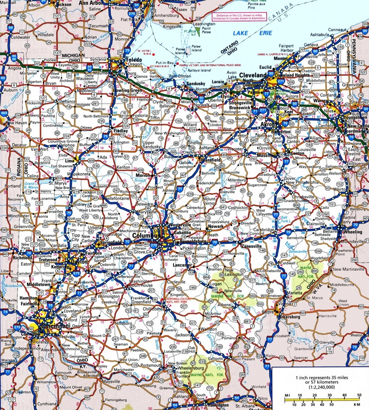 Ohio Road Map - Map ohio