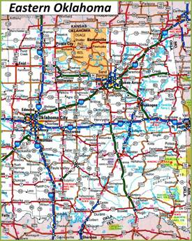 Map of Eastern Oklahoma