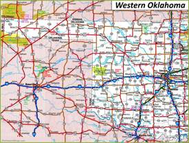 Map of Western Oklahoma
