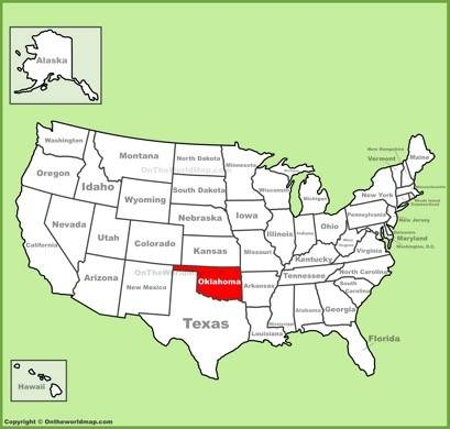Oklahoma On Map Oklahoma State Maps | USA | Maps of Oklahoma (OK)