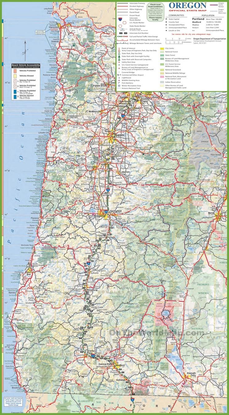 Oregon State Maps USA Maps of Oregon OR