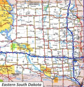 Map of Eastern South Dakota