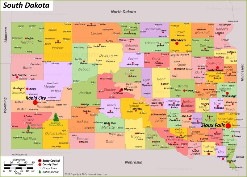 south dakota map usa South Dakota State Map Usa Maps Of South Dakota Sd south dakota map usa