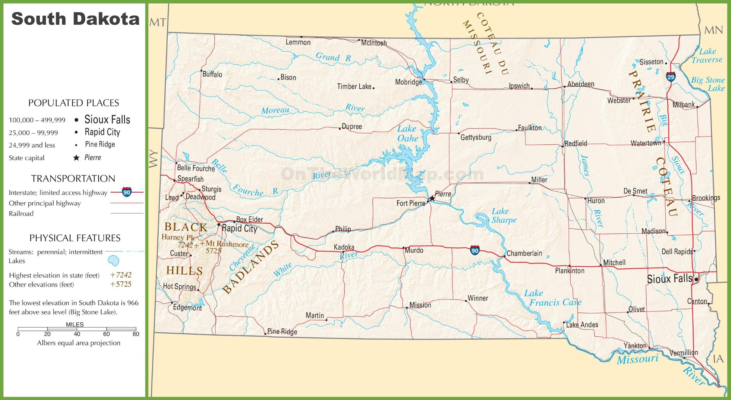 South Dakota Highway Map South Dakota highway map South Dakota Highway Map