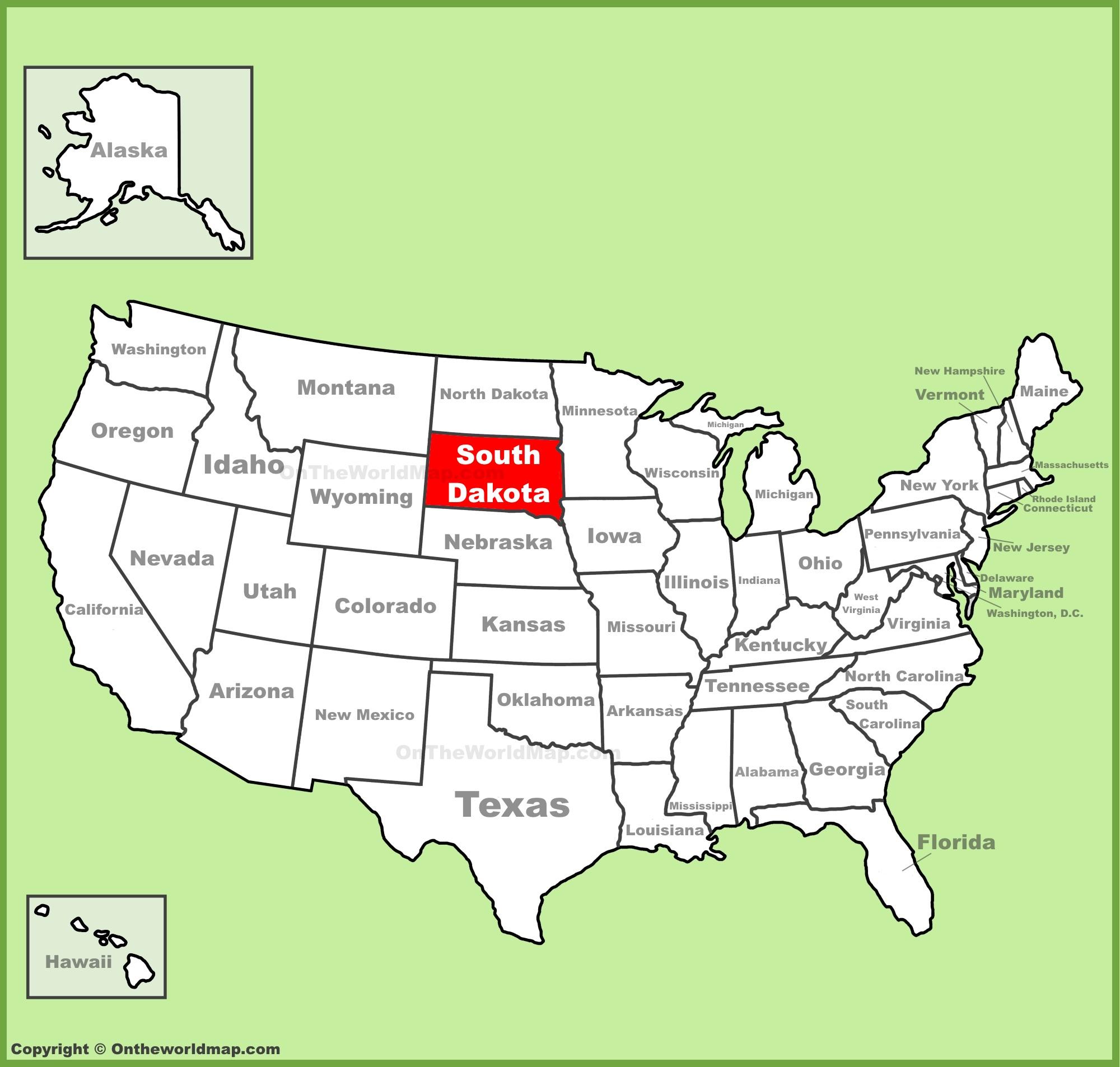 South Dakota Map South Dakota State Maps | USA | Maps of South Dakota (SD) South Dakota Map