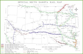 South Dakota rail map