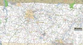 Map of Middle Tennessee