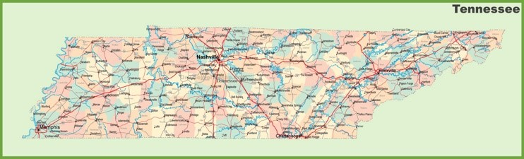 Tennessee State Maps | USA | Maps of Tennessee (TN)