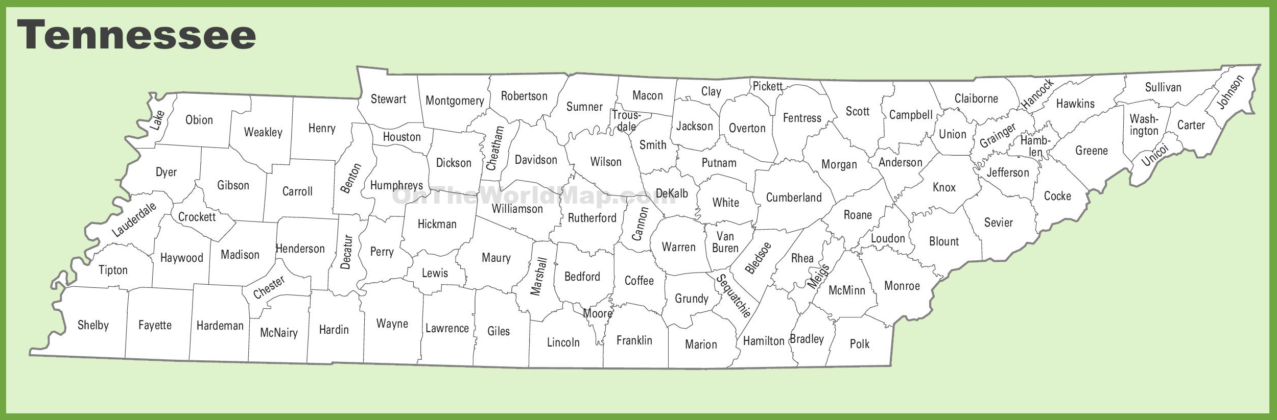 Tennessee Map Counties Tennessee county map Tennessee Map Counties