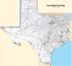 Large detailed map of Texas with cities and towns