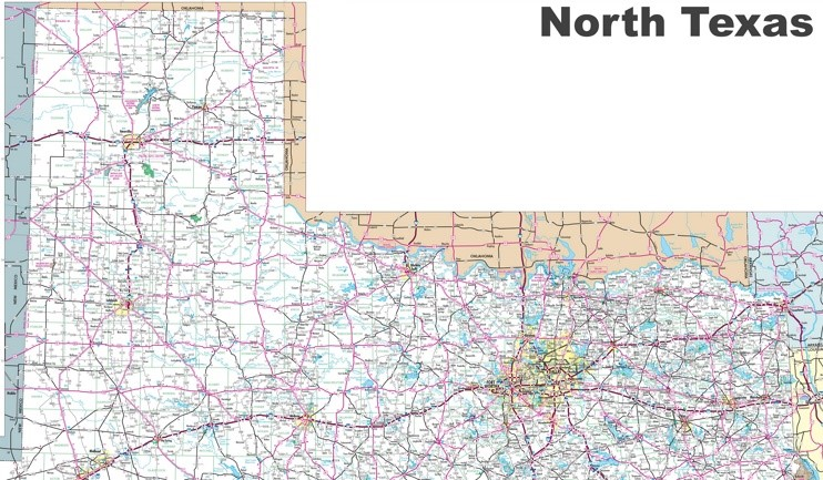 Map of North Texas