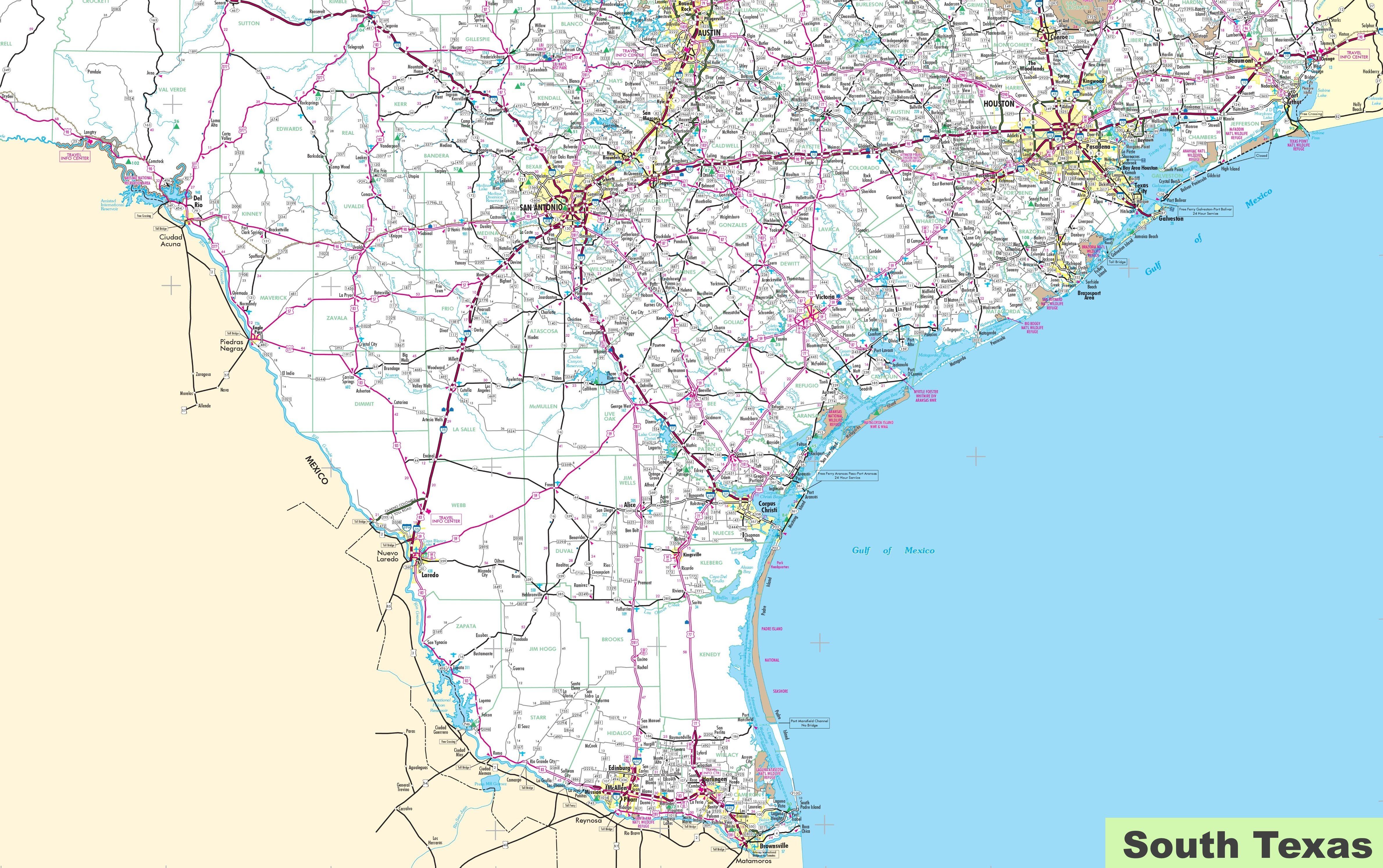 Map Of South Texas Map of South Texas Map Of South Texas