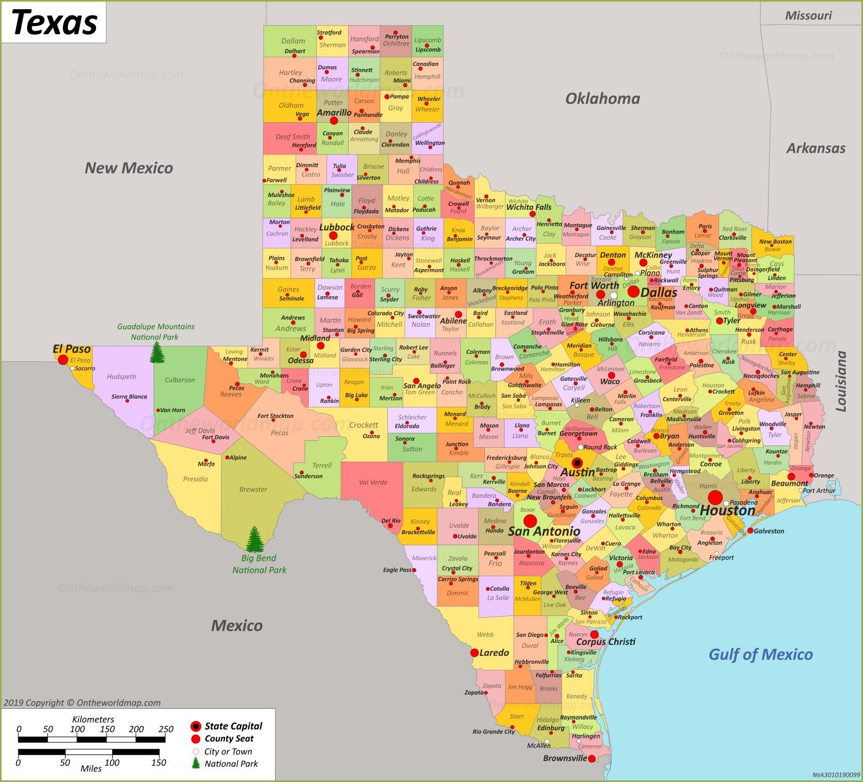Texas State Maps Usa Maps Of Texas Tx