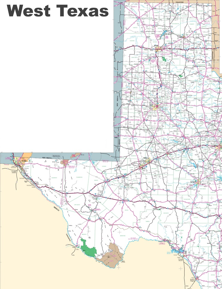 Map of West Texas