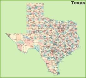 Road Map Of Texas With Cities