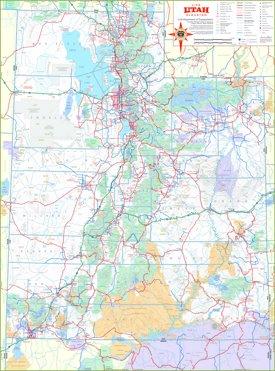 Detailed tourist map of Utah