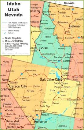 Utah City Map Utah State Maps | USA | Maps of Utah (UT)
