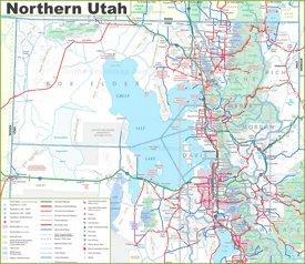 Map of Northern Utah