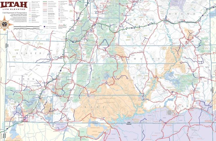 Map of southern Utah
