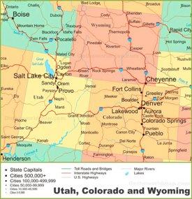 Map Pf Colorado Colorado State Maps | USA | Maps of Colorado (CO)
