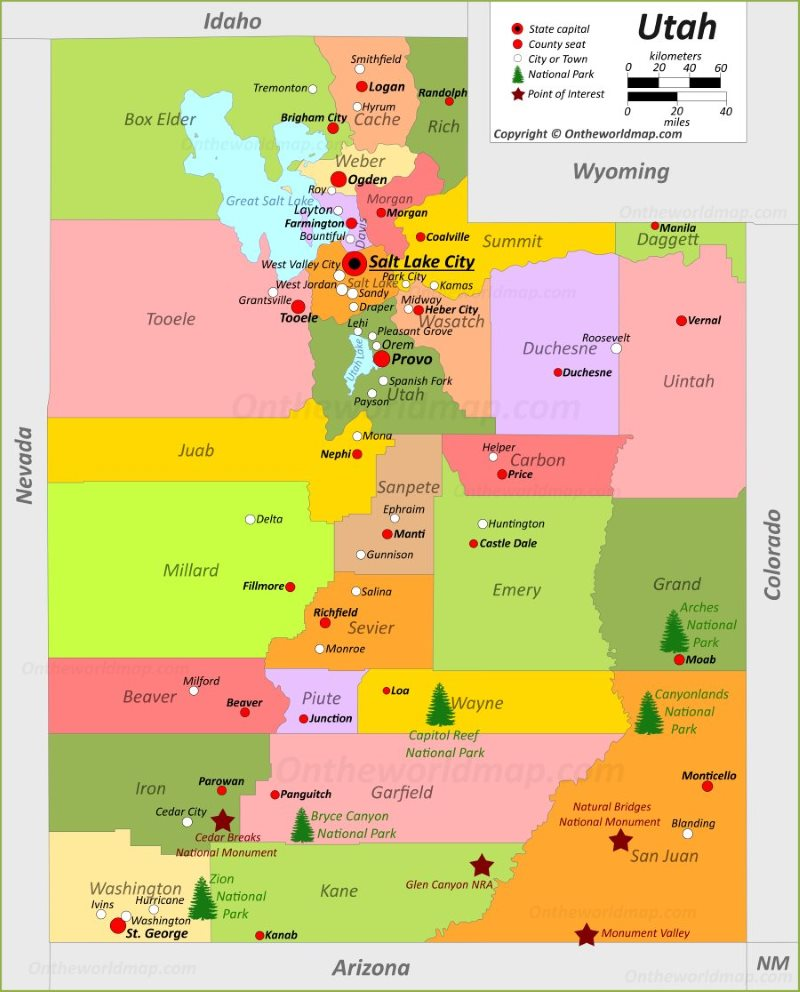 Colorado City Utah Map.Utah State Maps Usa Maps Of Utah Ut