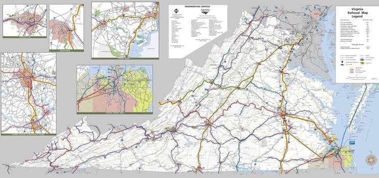 Virginia railroad map