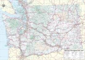 Large detailed tourist map of Washington with cities and towns